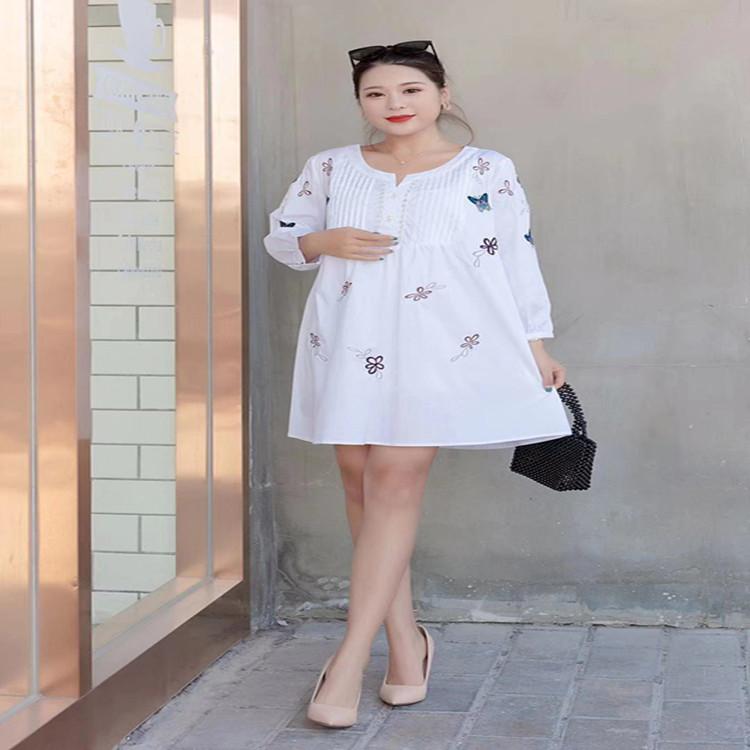 2020春季新款韩版修身显瘦时尚大码中长款百搭衬衣7593