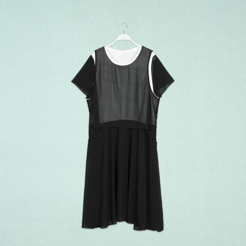 胖衣朵品牌大码女装批发胖人服饰夏装新款457