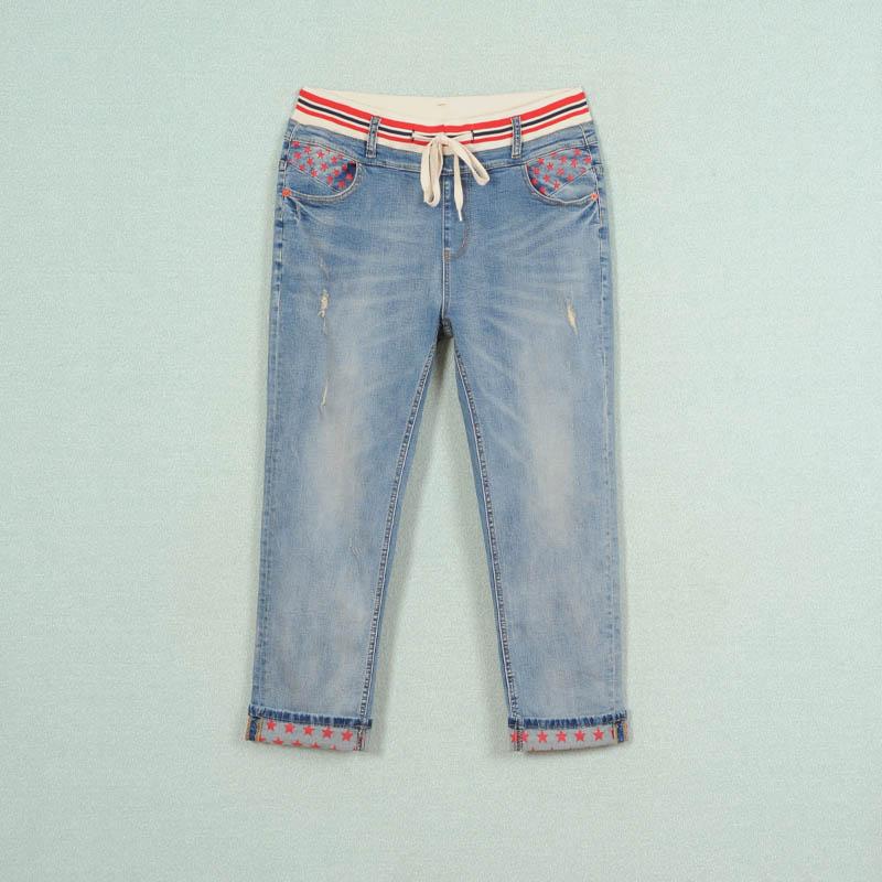 厂家直销胖衣朵品牌大码女装混批牛仔裤A681