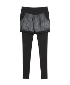 2014胖衣朵正品春装 新款时尚大码女装带皮裤裙A9921