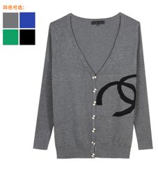 2014春装新款时尚休闲针织开衫批发拿货 专业批发 胖衣朵正品
