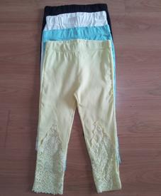 2014夏季新款 加肥加大特大码时尚七分休闲裤松紧腰 胖衣朵3198