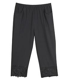 休闲纯色七分裤052  修身显瘦  夏季2014新款爆款 加肥加大 特大码女裤