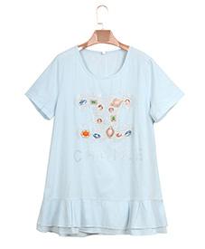 靓丽个性T恤906  清凉一夏 新款上市 特大码女装 加肥加大