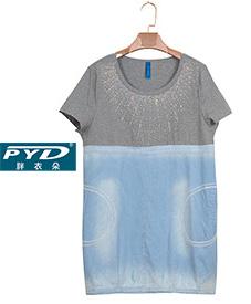 胖衣朵正品 长款上衣A99030  2014夏季爆款  加肥加大  特大码女装