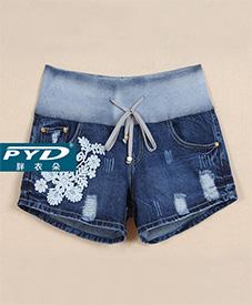 胖衣朵正品牛仔短裤99085    夏季新款   加肥加大 胖MM百搭首选