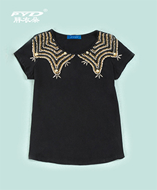 时尚T恤28078    胖衣朵正品   加肥加大  2014夏季新品