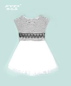时尚连衣裙1819   优雅淑女范  条纹欧美风  2014夏季新款  加肥加大