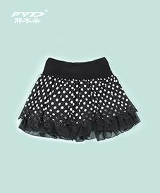 短裙E68-1   两款图案  荷叶蕾丝边  2014夏季新款  加肥加大  时尚特大码