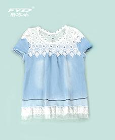 天蓝镂空上衣A99025       2014夏季新款  时尚大方  夏季必备  胖衣朵正品