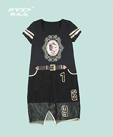 气质连衣裙601   皇后人物肖像图案  2014夏季新款  时尚优雅  加肥加大