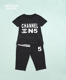 夏季套装288   五款颜色   字母图案 时尚套装 2014夏季新品 加肥加大胖衣朵正品