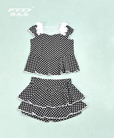 夏季套装986 领口镂空透气 圆点图案 2014夏季新品 加肥加大