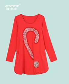 2014秋季特惠小衫28002 胸前镶钻 加肥加大 三款颜色 多种选择