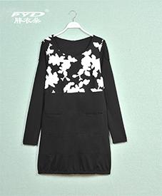 2014秋装新款 时尚大码女装加肥加大连衣裙 CF1116
