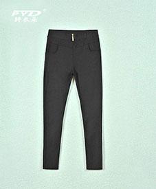 2014秋装新款时尚大码女装 肥加大码纯色黑休闲长裤b66