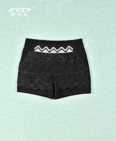 厂家直销胖衣朵正品加肥加大 时尚大码女装带钻 松紧腰围短裤E72