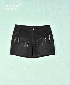胖衣朵正品 厂家直销时尚大码女装三尺腰200斤拉链亮片款E77批发