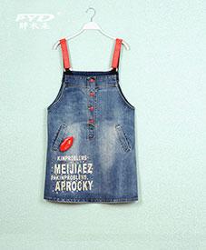 时尚大码女装背带裙 口红字母图案经典爆款 胖mm加大 特大码8803