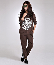 石头鱼2014新款秋装韩版大码女装长袖休闲卫衣运动套装8172 批发