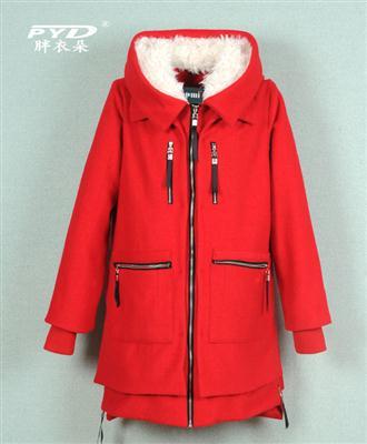 2014秋冬大码女装加肥加大特大版女装250斤厂家直销外套大衣31066