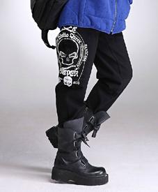 石头鱼加大码女装批发胖衣朵提供加肥裤子355