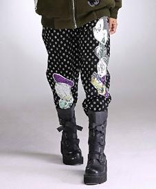 石头鱼大码女装批发批发胖衣朵提供加肥松紧腰裤子359