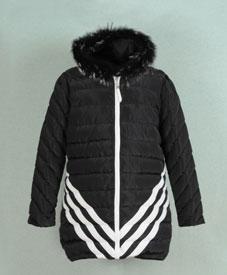 厂家直销2014冬季新款中长款加肥加大棉衣8006品牌大码女装批发网