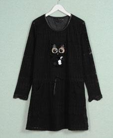2014冬季新款加肥加大时尚大码女装胖mm修身显瘦长款时尚打底7128