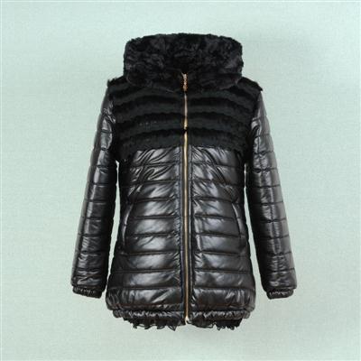 2014冬季新款胖衣朵 加肥加大胖mm时尚长款pu棉衣厂家直销1573