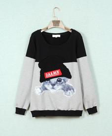 2014冬季新款胖mm 时尚打底短款棉t恤 大码女装品牌批发网809012