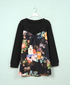 14胖衣朵正品单层黑色加肥加大胖妹妹时尚打底8029大码女装品牌网