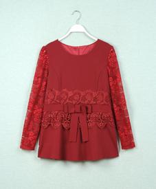 厂家直销大码女装 时尚修身镂空蕾丝绣花时尚韩版套装 胖衣朵113