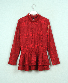 15春新款时尚修身显瘦韩版大码女装批发潮厂家直销时尚蕾丝套装