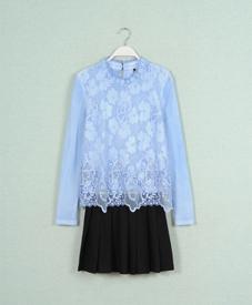 厂家直销大码女装宽松显瘦蕾丝连衣裙15春装1359