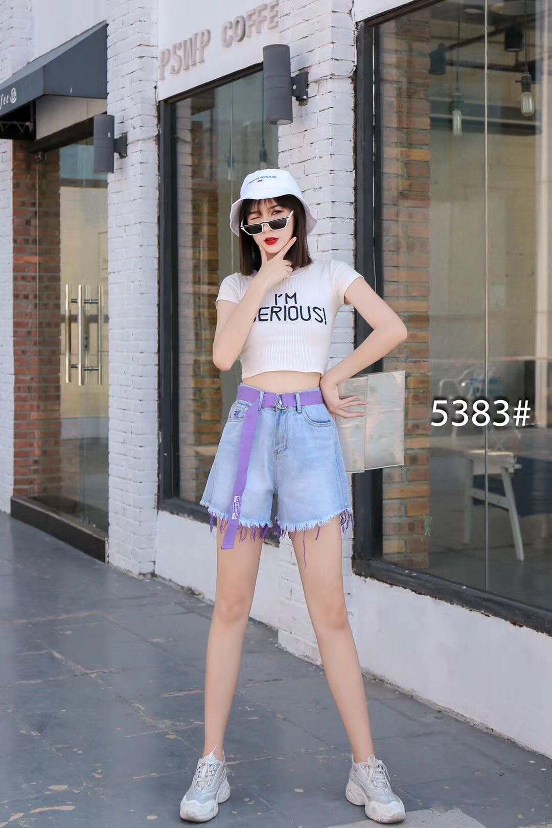 加肥加大牛仔短裤女2020夏季新款胖mm韩版宽松显瘦百搭阔腿裤5383